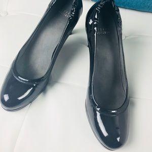 Stewart Weitzman Black Patent Leather Heels